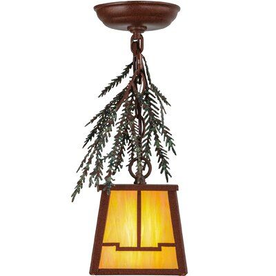 Meyda Tiffany Pine Branch Valley View 1 Light Lantern Pendant Products In 2019 Lantern Pendant Mini Pendant Lights Ceiling Lights