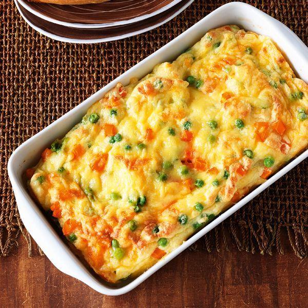 Potato casserole with peas and carrots Potato casserole with peas and carrots -