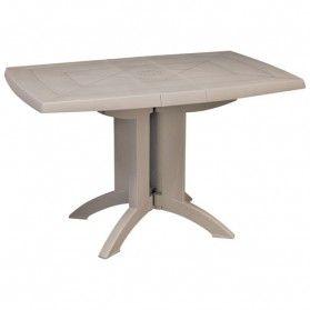 Table de balcon pliable - 118x77cm - lin | Mobilier de jardin, Table ...