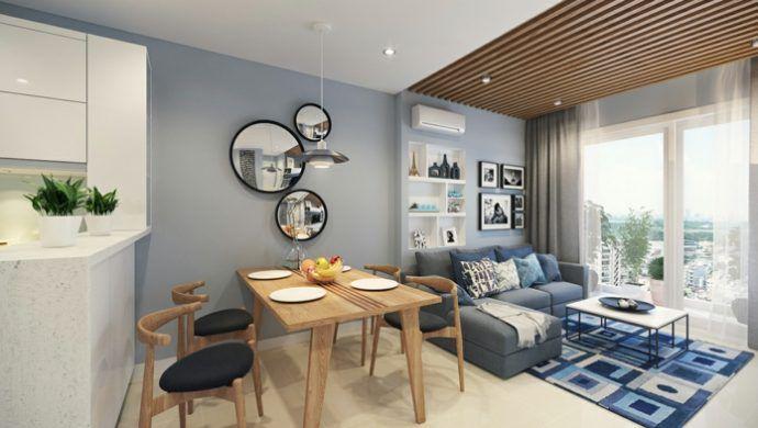 Das kleine Wohnzimmer bis ins Detail einrichten Helle farben