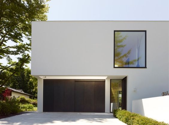 Haus k by titus bernhard architekten modern houses in for Minimalistisches haus grundriss