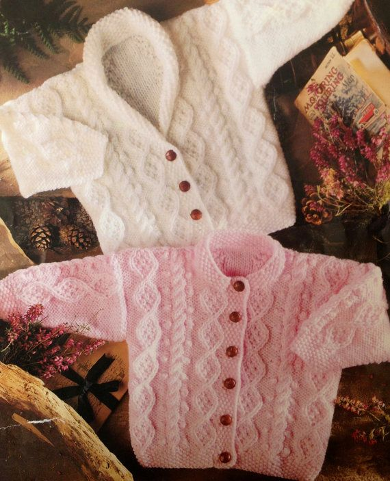 knitting pattern PDF for baby to child aran cardigans boy or girl 18 ...
