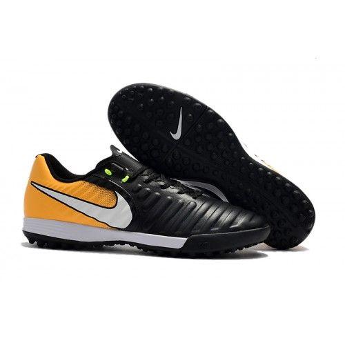 premium selection e6833 93fa1 Nike TIEMPO LEGEND VII TF Botas de futbol Naranja Blanco Negro