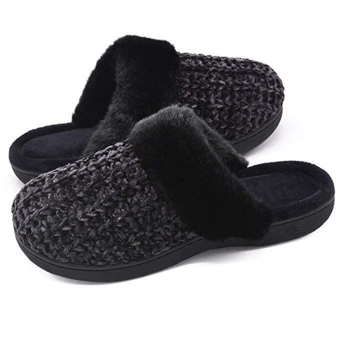 569e7e2c964 Zigzagger Women s Cute Memory Foam Slippers Indoor Outdoor Comfy Fuzzy  Knitted Slip On House Shoes