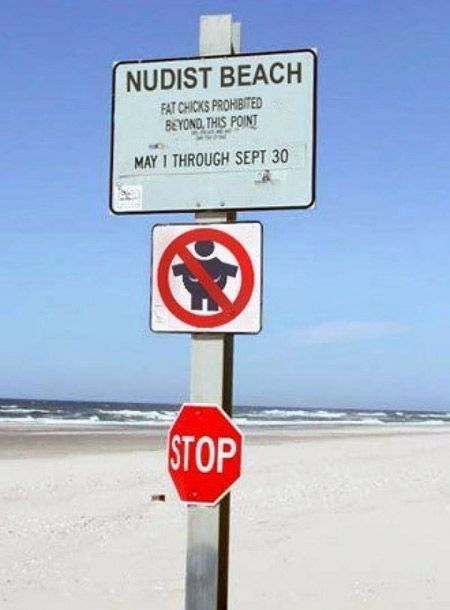 12 Funny Signs Found At The Beach Fat People And Humour
