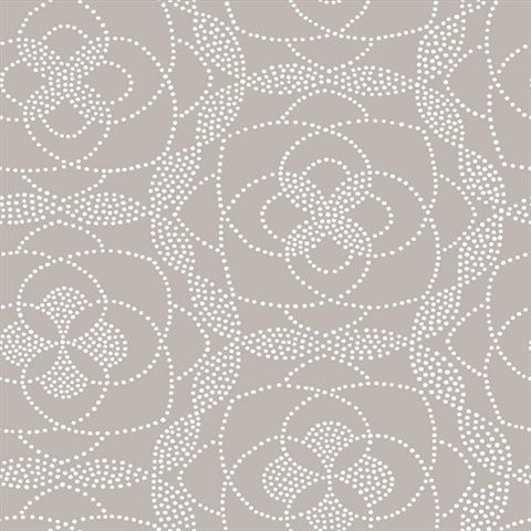 Cosmos Light Grey Dot Wallpaper 269722638 Modern