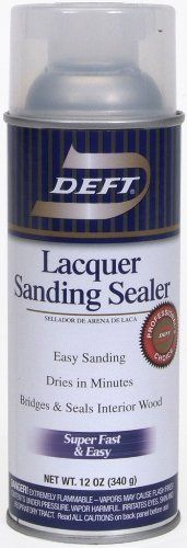 Deft Lacquer Sanding Sealer Spray 12 Ounce Aerosol By Deft Inc This Clear Wood Finish Brushing Spray Is 100 Percent Nitrocellulose Br Sanding Sealer Lacquer