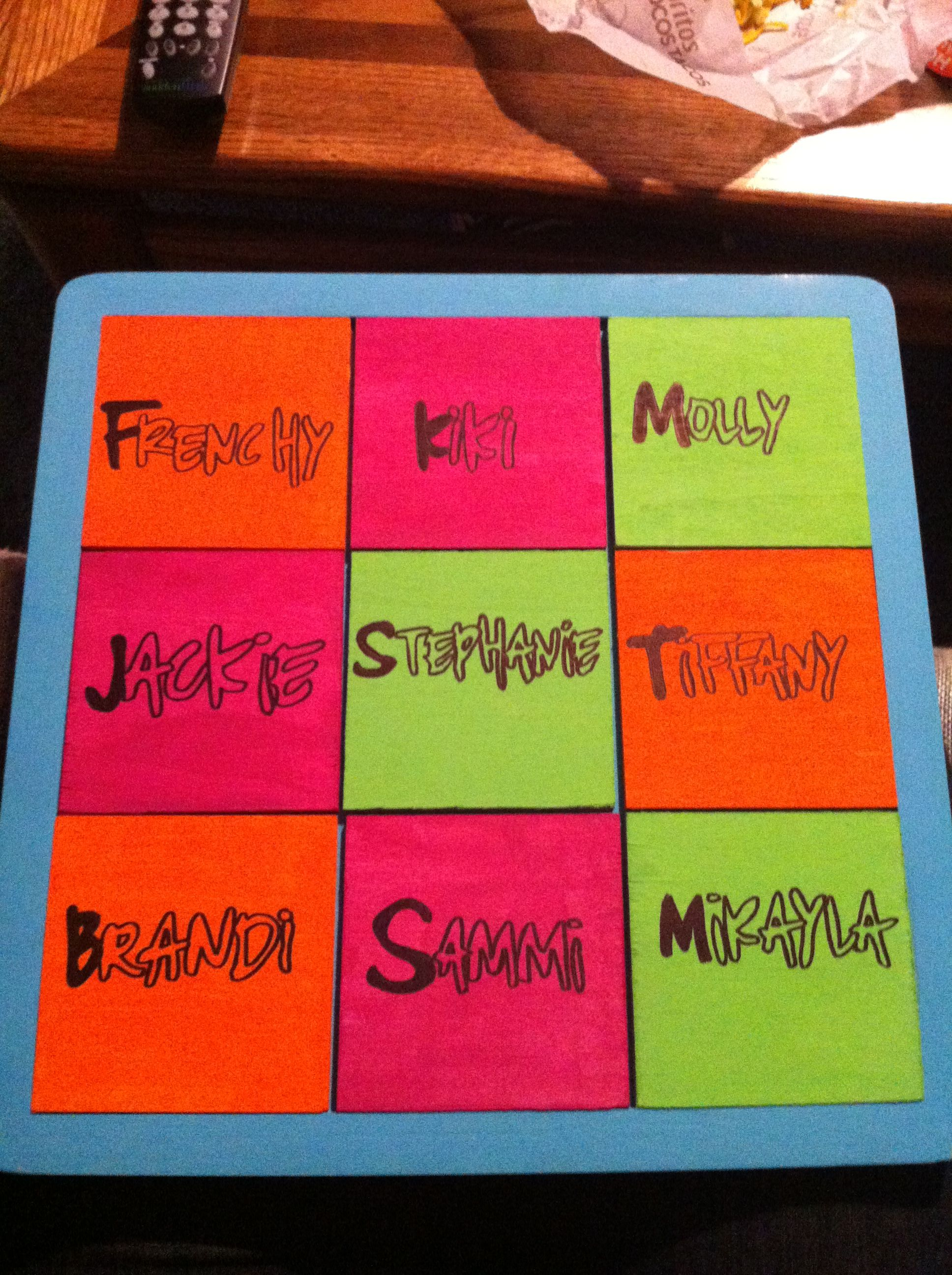 Family tree board for my big!