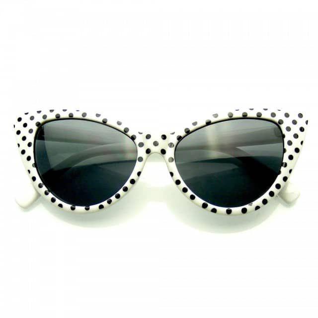 ca3b76c788 Polka Dot Cat Eye Womens Fashion Mod Super Cat Sunglasses - Emblem Eyewear