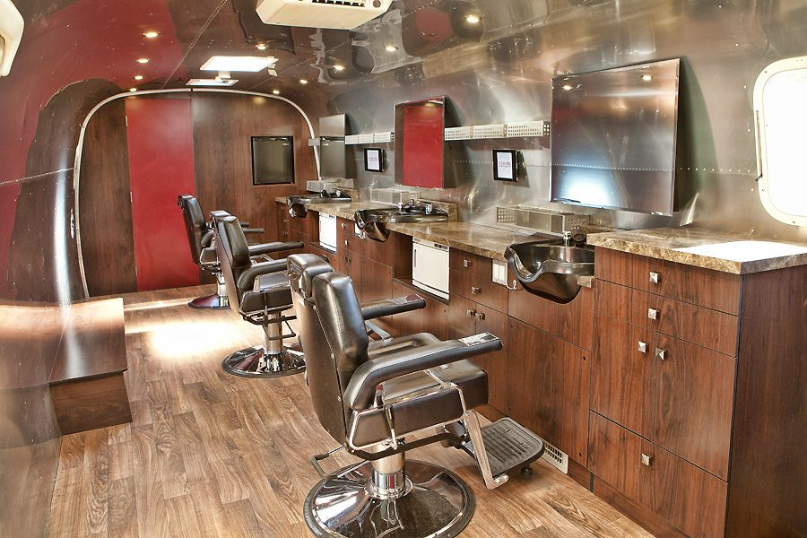 Mobile barber shop based in an Airstream trailer in 2020