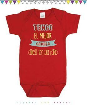 Me encanta mi abuelo bebé bordados T-shirt regalo Nieto Corazón