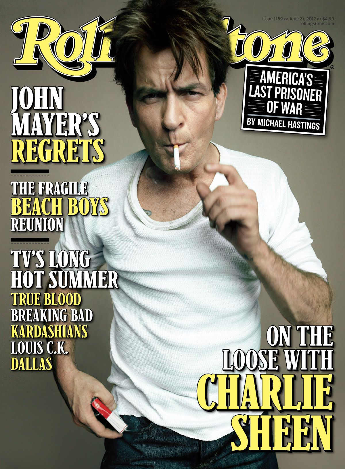 Rolling Stone Magazine Covers   Charlie Sheen on the cover ... Rolling Stone Magazine