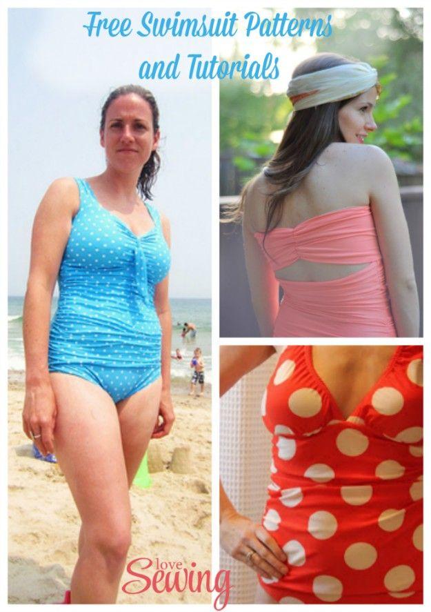 Free Swimming Costume Sewing Patterns Pattern Drafting Pinterest