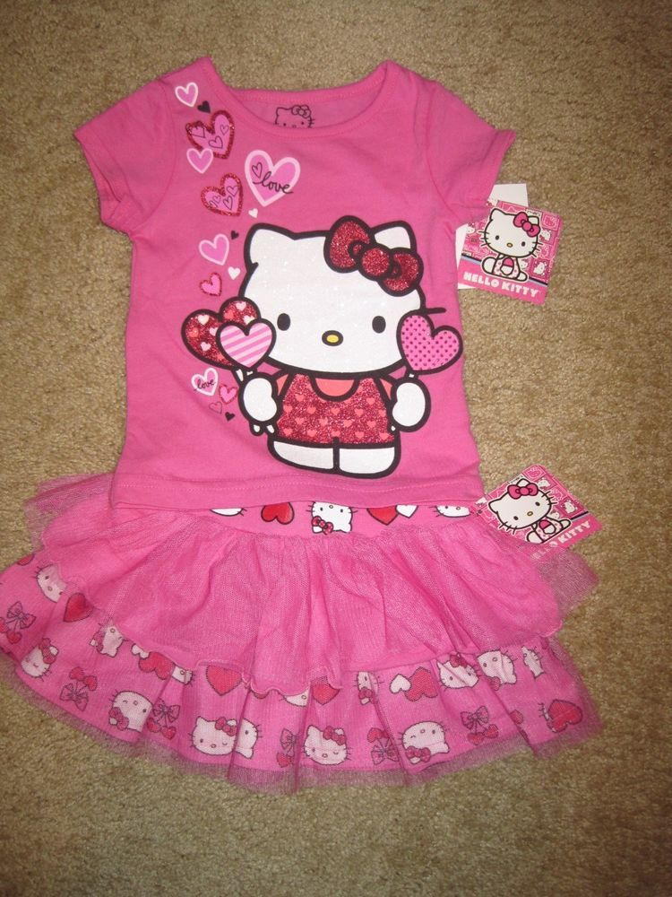 94bb140940e53 nwt #hellokitty pink #baby/infant #girl 2-piece shirt & skirt outfit ...