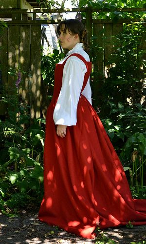 Left Side | Medieval dress pattern | Medieval dress pattern