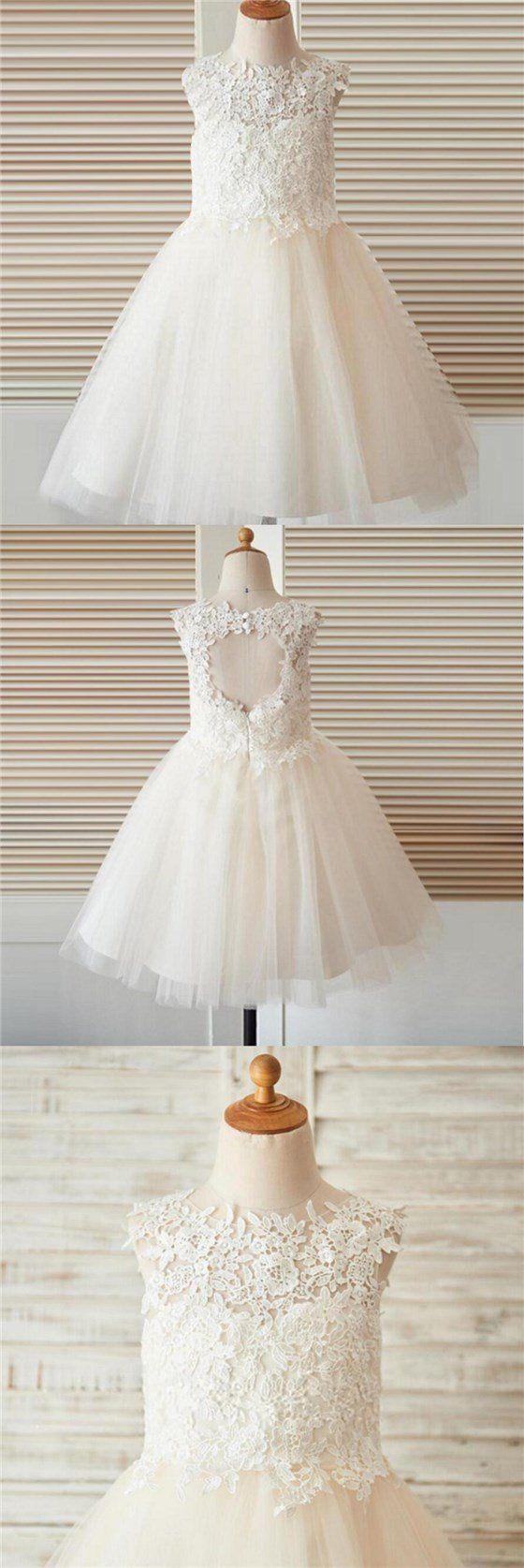 Lace up wedding dress november 2018 Open Back Top Lace Flower Girl Dresses for  Wedding  Best Sale