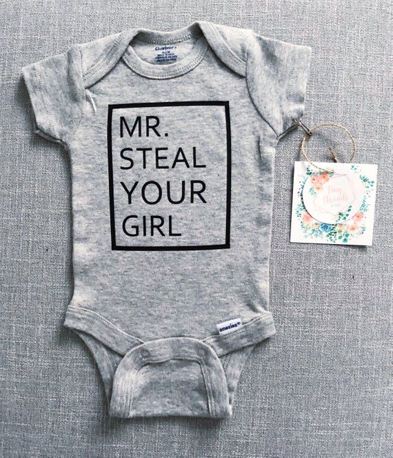 Mr Steal Your Girl Tshirt Infant Baby Girl Short Sleeve Top Waistband Short Clothes