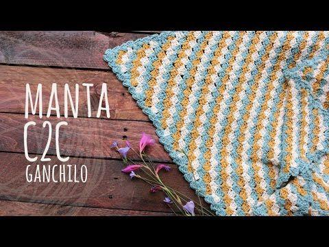 Tutorial Manta o Cobija Bebé C2C Ganchillo   Crochet - YouTube ...