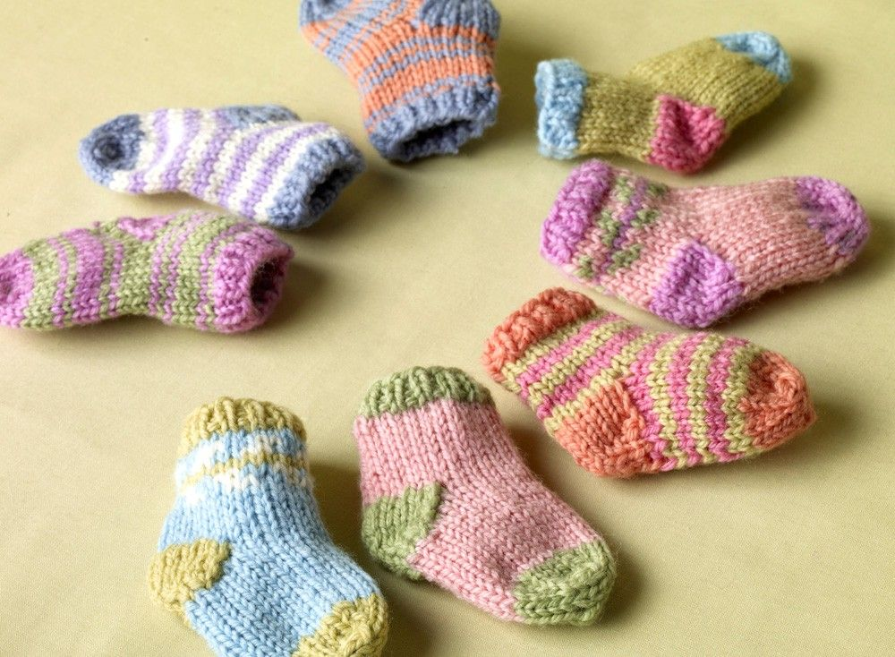 Bright Baby Sock Booties Free Knitting Pattern Miscellaneous
