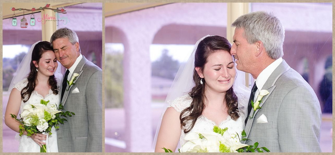 Father And Daughter First Look At Wedding Www Mimikayphotography Mimi Kay Photography
