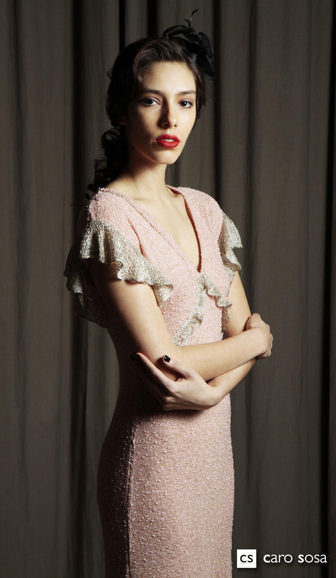 vestido España,botone,y voladitos de seda todo con lurex.