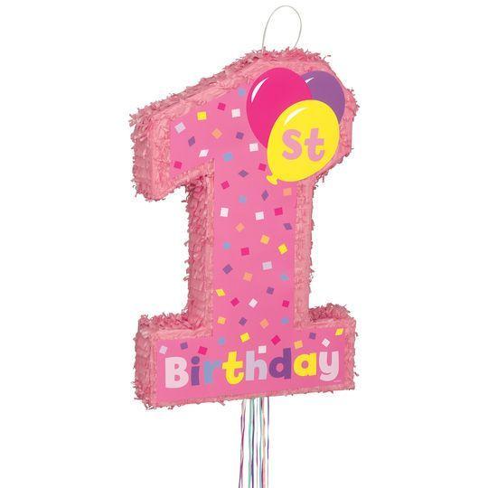Amscan Pinata 1 Geburtstag rosa