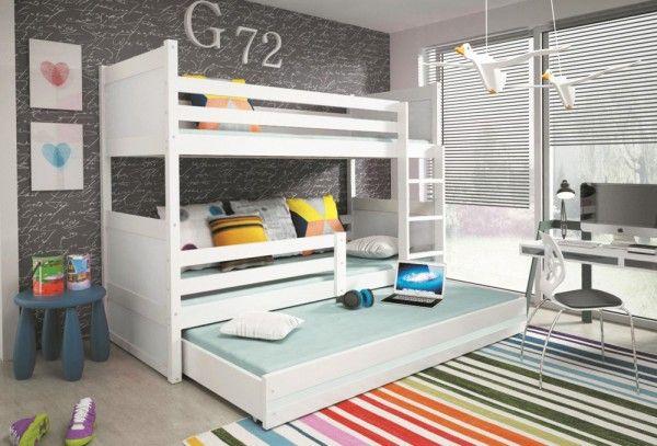 dreier etagenbett nico wei bett. Black Bedroom Furniture Sets. Home Design Ideas