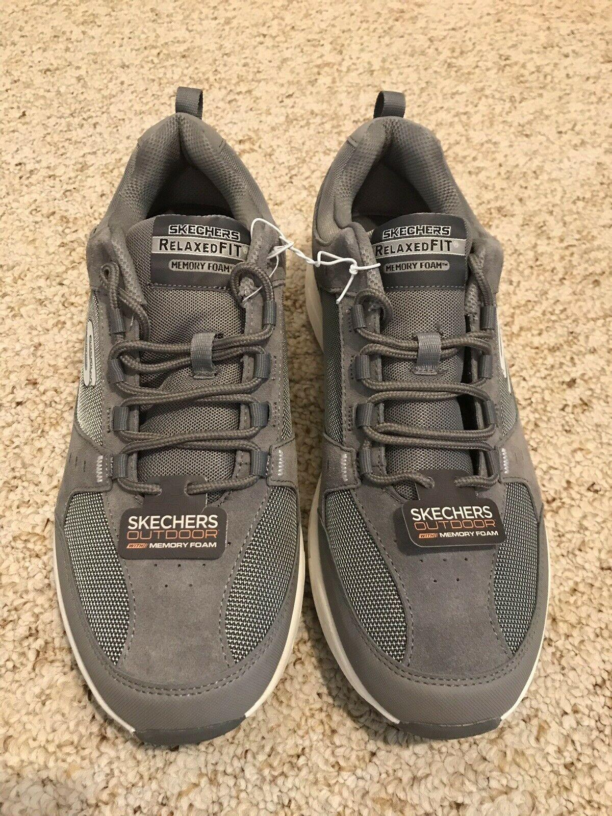 Nib Mens Sketchers Gray Oak Canyon Shoes Sz 12 Memory Foam Sketcher Shoes Ideas Of Sketcher Shoes Sketcher Shoes Sketchers Shoes Shoes Skechers
