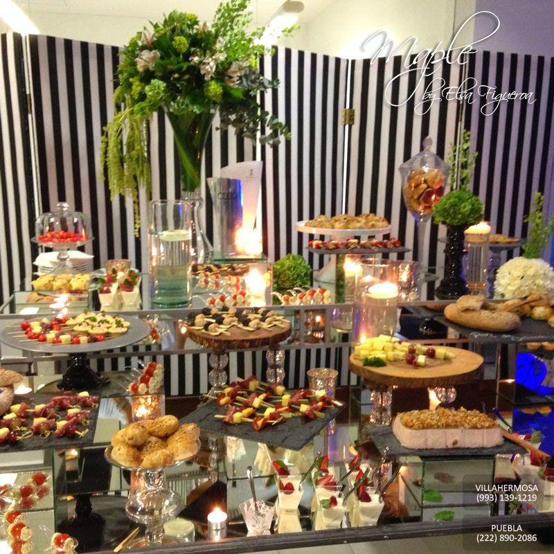 Mesa de canap s mesa para fiestas pinterest mesas for Decoracion de canapes