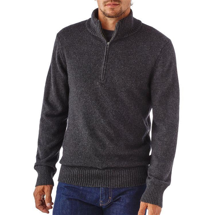 M's Reclaimed Wool 1/4-Zip Sweater,   Men's Garb   Pinterest   Zip ...