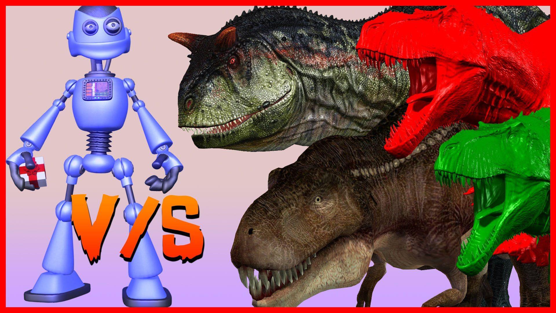 3D Dinosaurs V/S Robo Cartoon 3D Short Movie For Children