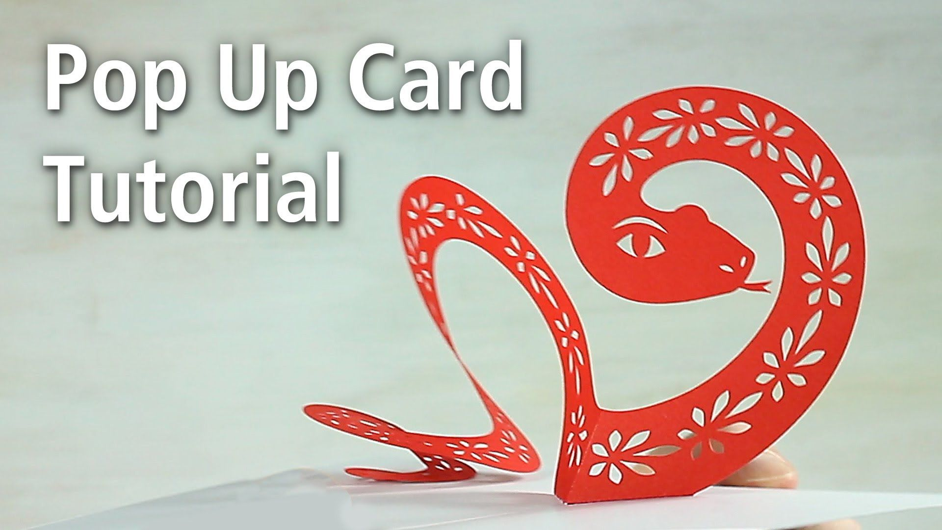 Pop Up Snake Card Tutorial And Free Download Template By Peter Dahmen Pop Up Cards Card Tutorial Card Tutorials