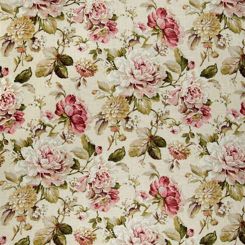 Vintage Sanderson Chintz Floral Upholstery Fabric Vintage Floral Fabric Floral Upholstery