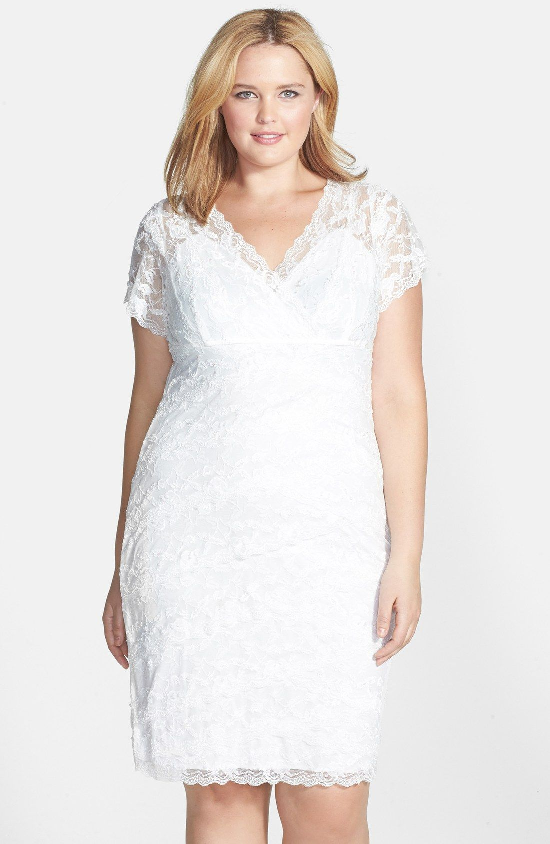 Marina Tiered Lace Dress (Plus Size) | Nordstrom | My dream wedding ...