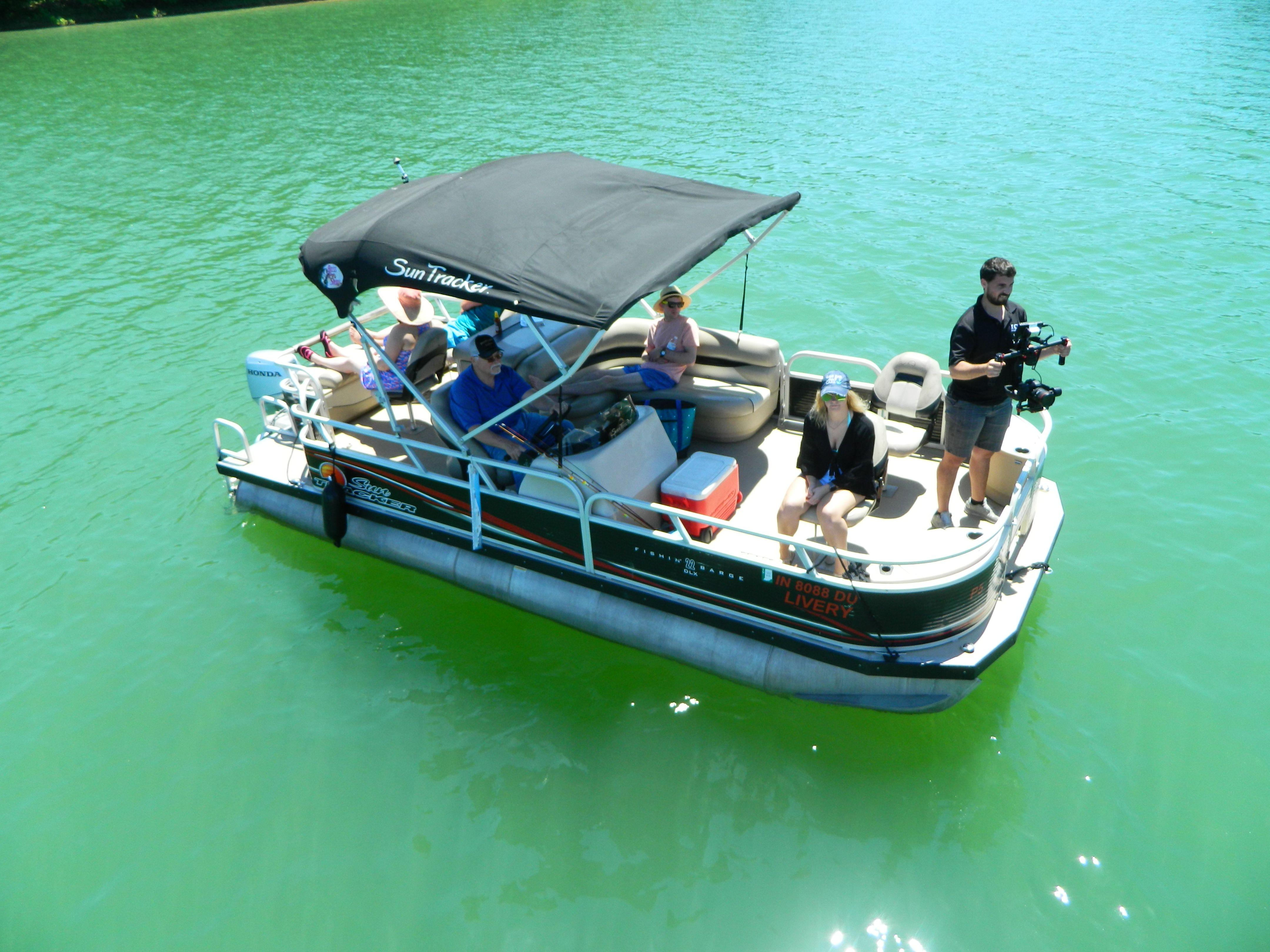 Fishing Barge Rental At Patoka Lake Marina Brookville Lake Lake Cabins Cabin Rentals