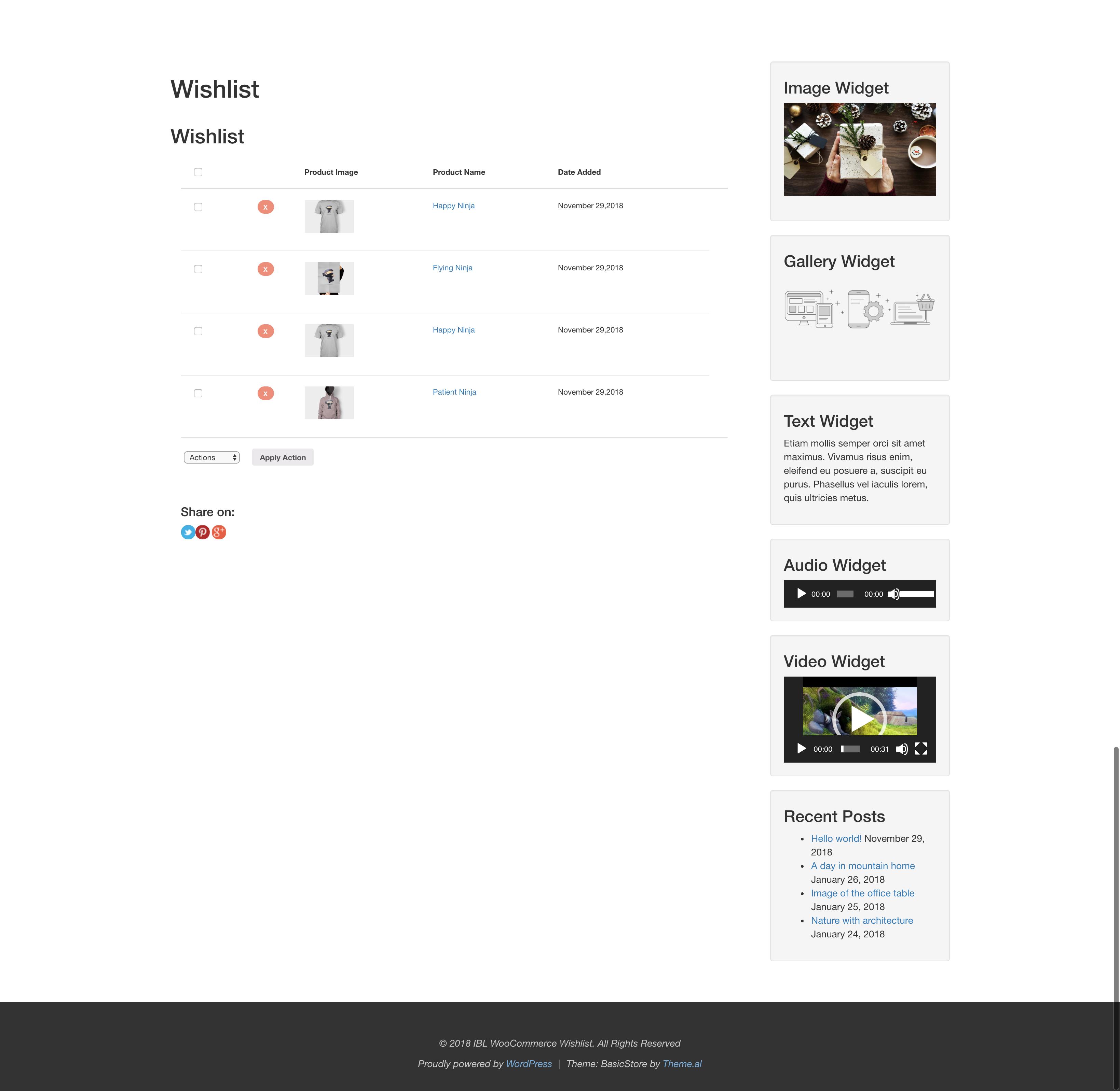 Wishlist Plugin Wordpress Plugin for