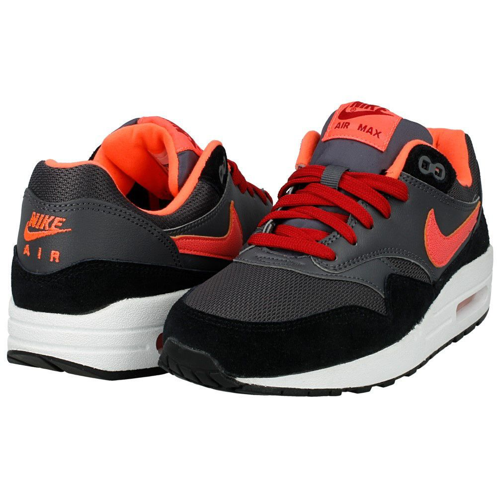 Nike Air Max 1 (gs) SNEAKERS 555766 044 Dark Grey Hot Lava