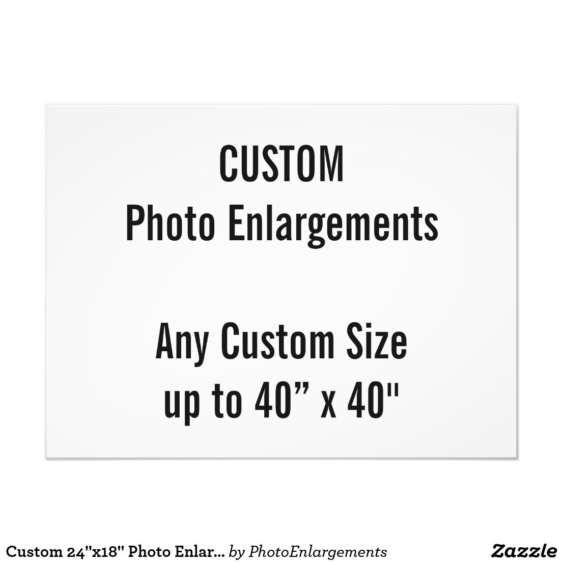 """24x42/"""" Custom Printed MATTE Photo Poster YOUR PHOTO POSTER Image Enlargement"""