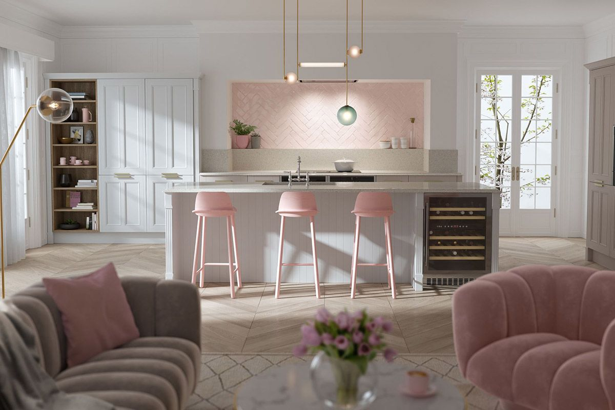 Best 51 Inspirational Pink Kitchens With Tips Accessories To 640 x 480