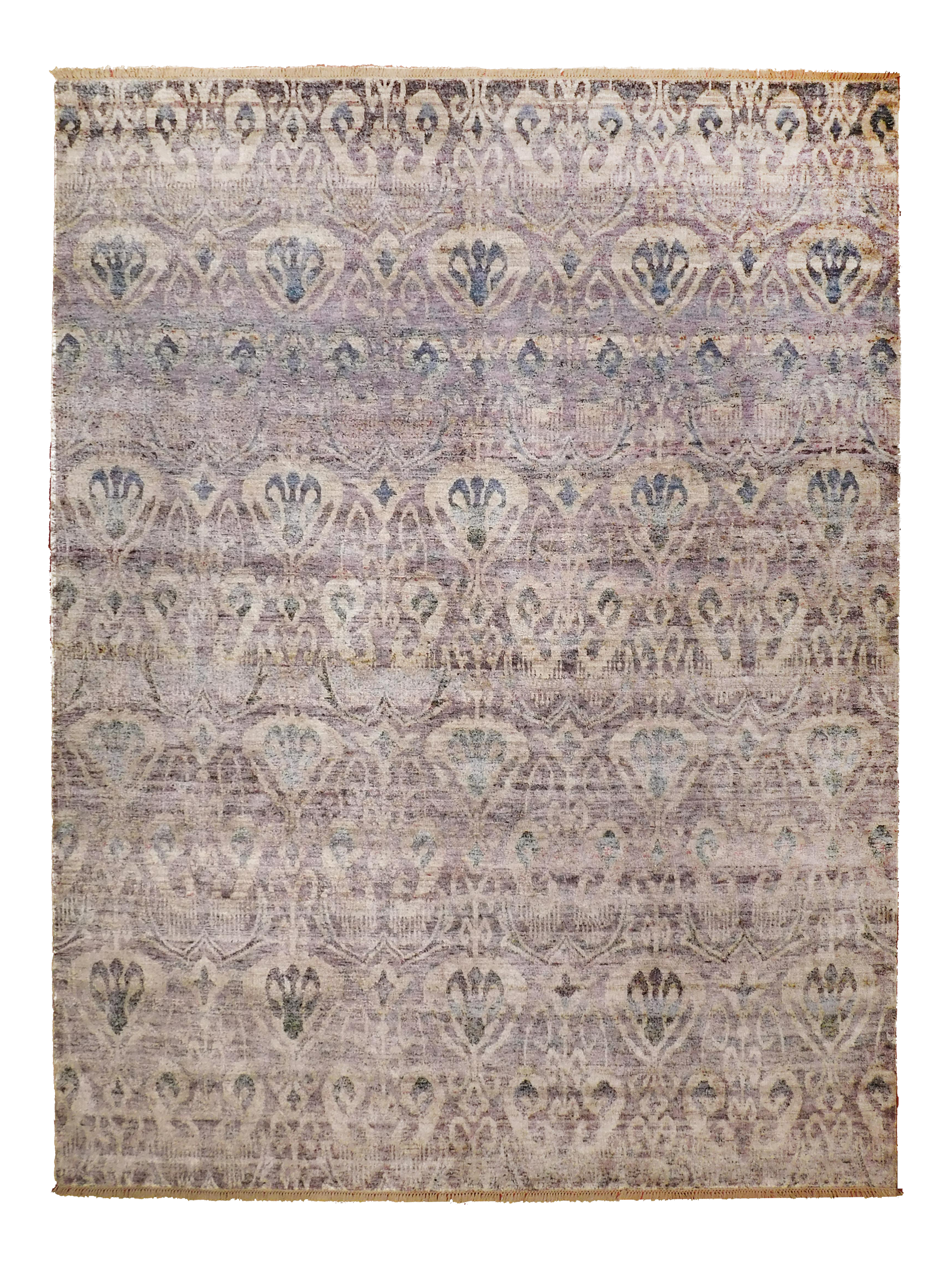 Hand Knotted Bamboo Silk Indian Rug 9 X 12 Carpets