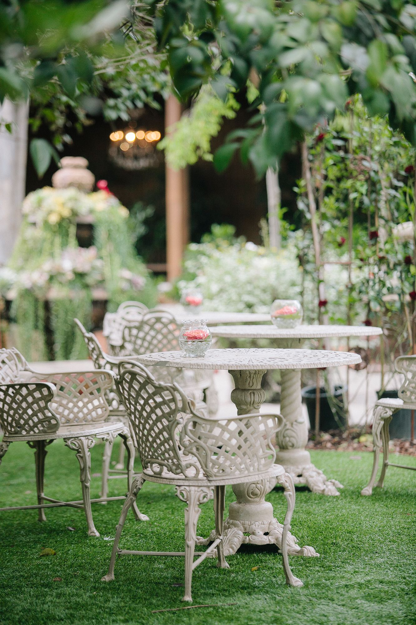 Outdoor garden wedding decoration ideas  Blush Twin Oaks Garden Estate Wedding  Pink garden and Black books