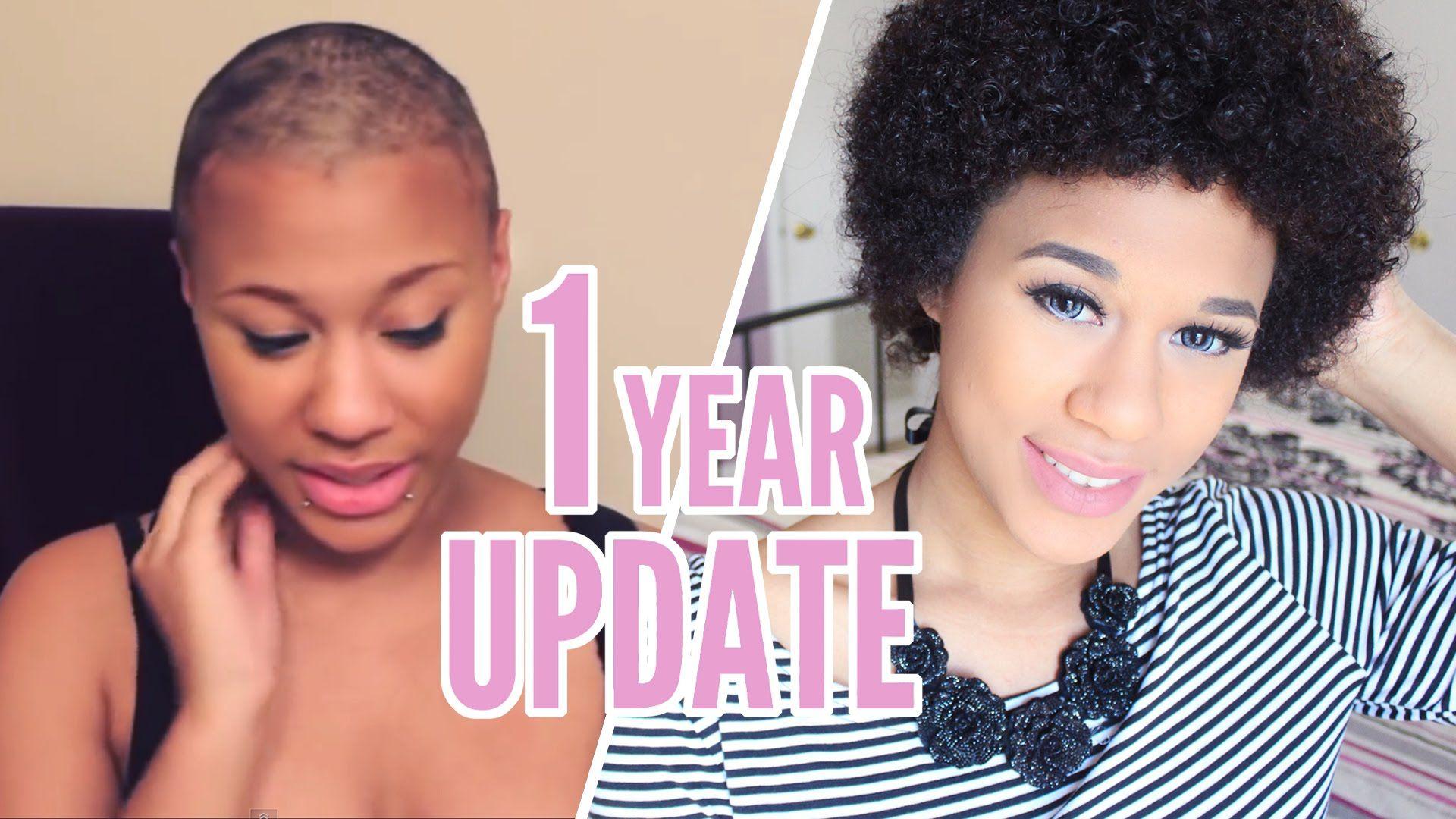 Shaving My Head 1 Year Big Chop Update Natural Hair Styles Hair Growth Progress 1 Year Hair Growth