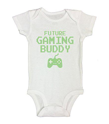 Future gaming buddy Funny Kids Onesies Baby BodySuit Funny Threadz 3-6 Months, White - https://www.webmarketshop.com/future-gaming-buddy-funny-kids-onesies-baby-bodysuit-funny-threadz-3-6-months-white/