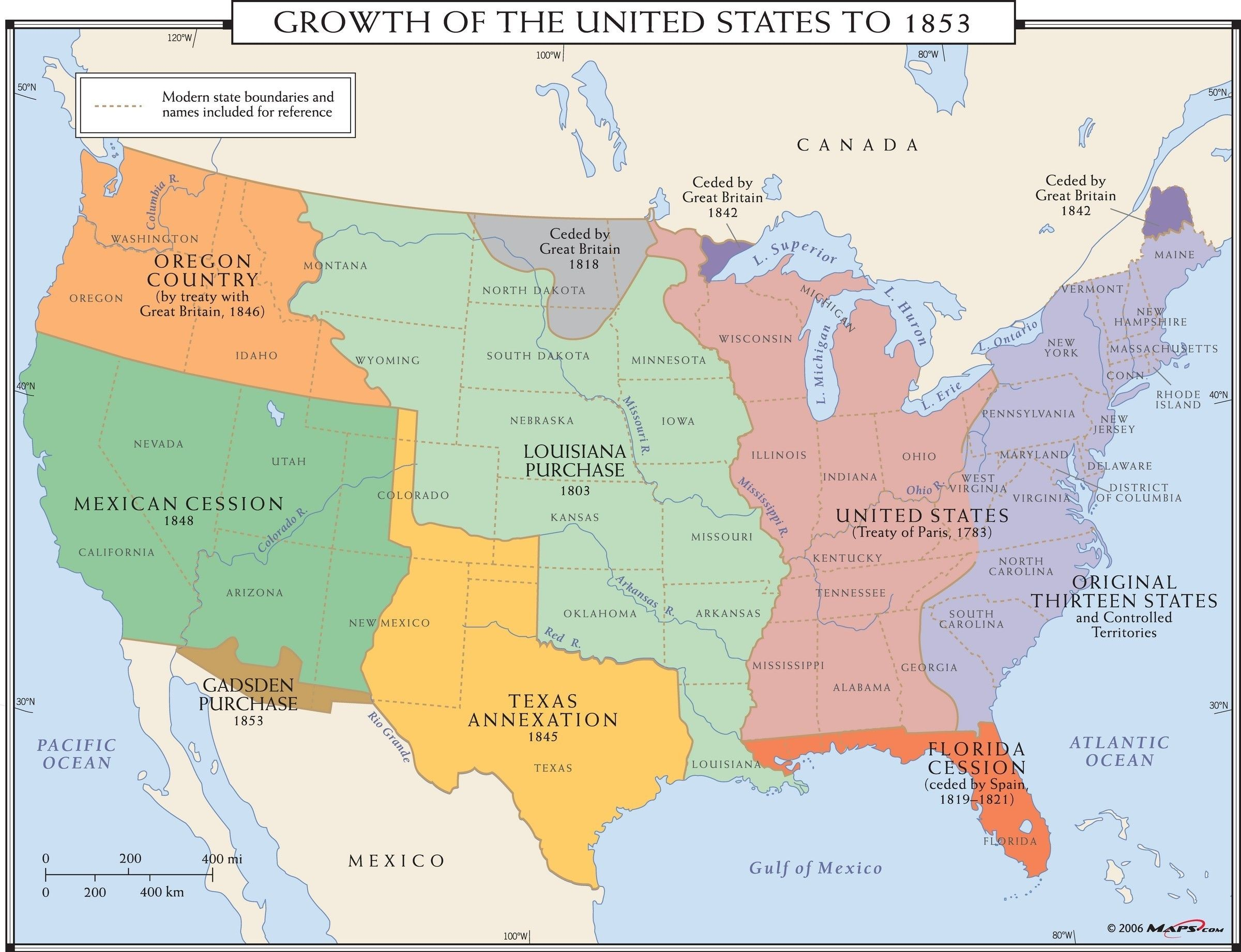 Us Westward Expansion Maps Us Growth Fresh Map Us ...