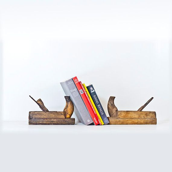 Book Ends From Antique Wood Plane Hand Tool Antique