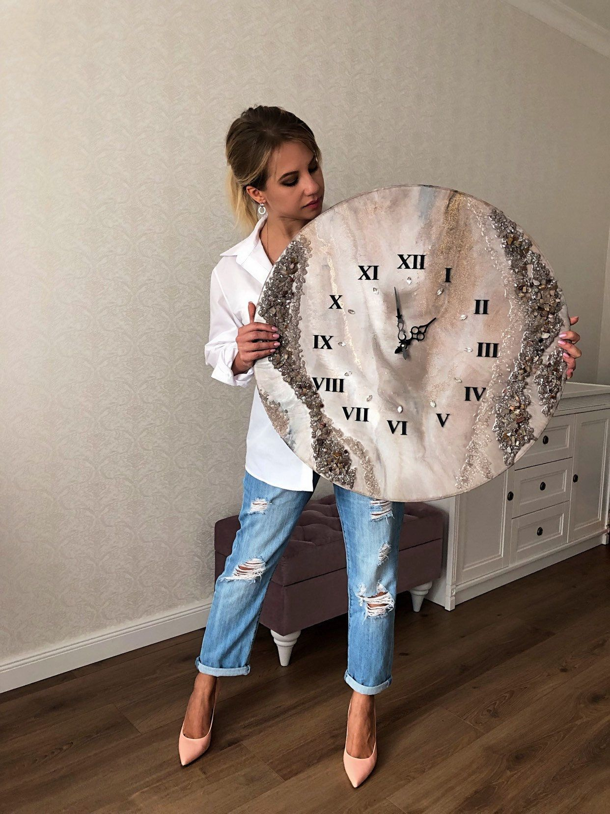 Wall Clock - Home Decor - Large Clock - Modern Design - Epoxy Decor - Housewarming Gift - Epoxy Resin Art Wall Decor - Unique Watch#art #clock #decor #design #epoxy #gift #home #housewarming #large #modern #resin #unique #wall #watch