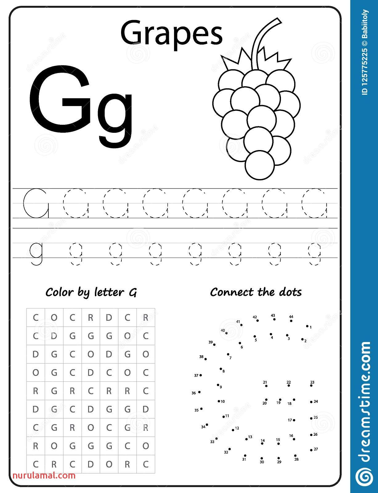 Alphabet Worksheets Preschool Coloring Pages In With