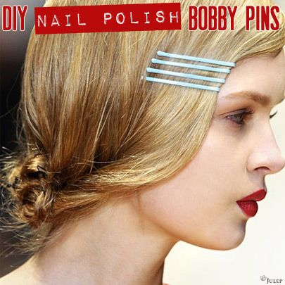 DIY Nail Polish Bobby Pins