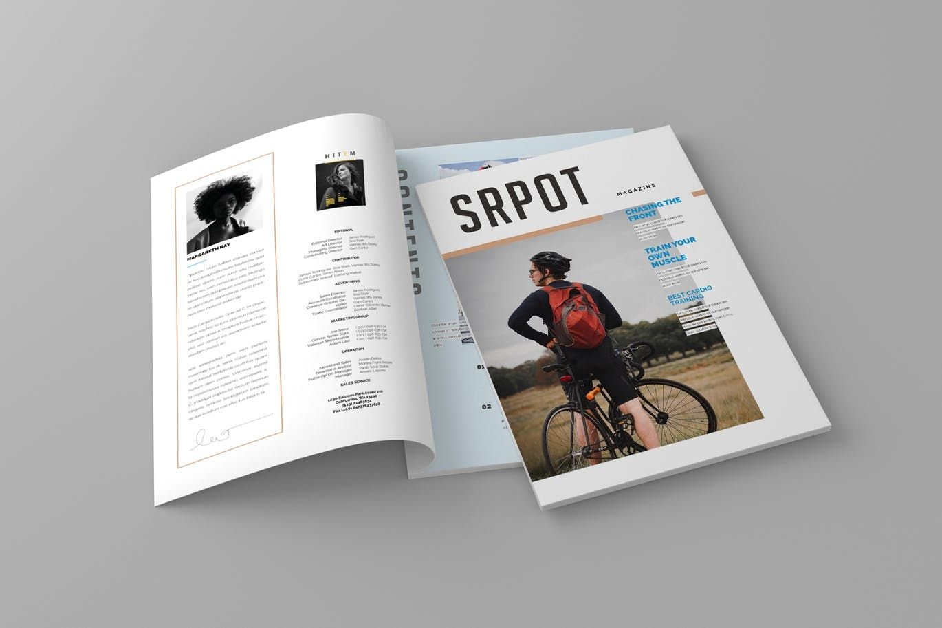 Magazine Template Indesign Indd A4 Us Letter Format Paper Size