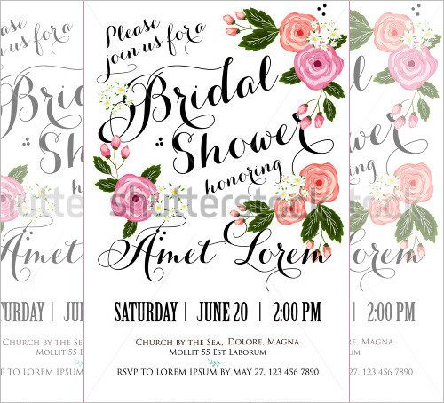 25+ Bridal Shower Invitations Templates PSD Invitations Free - free bridal shower invitation templates printable